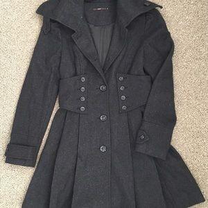 Hazel Hazel wool/poly blend coat